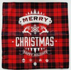 Hewec® Kerst kussen Vrolijk Kerstfeest Kussenhoes Kussensloop 45x45cm model 03