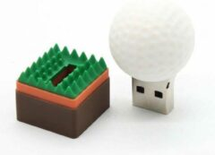 Witte Golfbal usb stick 4 GB
