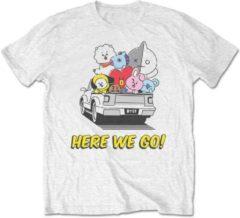 BT21 Heren Tshirt -M- Here We Go Wit