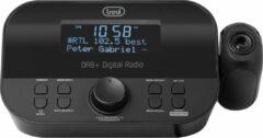 Wekkerradio met tijd projectie, DAB / DAB + digitale ontvanger - Trevi RC 85D8, zwart
