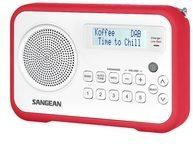 Sangean DPR-67, DAB+ / UKW-RDS Tragbarer Empfänger Farbe: Rot