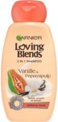Garnier Loving Blends Vanille & Papayapulp 2in1 Shampoo - 250 ml - Normaal Haar