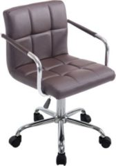 CLP Bürostuhl LUCY V2 mit gestepptem Kunstlederbezug I Drehstuhl mit Leichtlaufrollen I Höhenverstellbarer Schreibtischstuhl mit Armlehne I In verschi