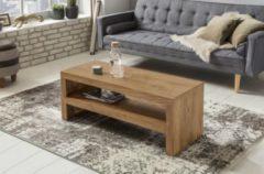 Wohnling Couchtisch MUMBAI Massiv-Holz Durban Akazie 110 cm breit Wohnzimmer-Tisch Design braun Landhaus-Stil Beistelltisch