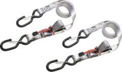 Zilveren MasterLock Spanbanden - Set van 2 - 5mx2,5cm - Met veerklemmen - 3380EURDAT