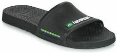 Havaianas Brasil Slide Slippers - Maat 41/42 - Unisex - zwart/wit/groen