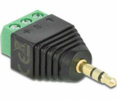 Groene Delock - Adapter Klinke Stecker 3,5 mm - Terminalblock 3 Pin