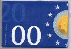 Blauwe De Nederlandse Munt Nederland Jaarset Munten 2000 FDC - Euro Introductie