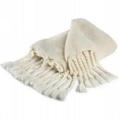 Damai Vancouver plaid - 100% acryl - 130x170 cm - Wit, Wool white