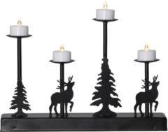 LED-Leuchter 'Wald' Star Trading schwarz