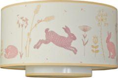 Roze Taftan - Hello World - Plafondlamp 35 cm