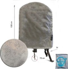 Zilveren CUHOC COVER UP HOC Diamond bbq hoes rond -75x100 cm - Waterdicht met Stormbanden en Trekkoord