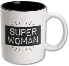 Witte Paper dreams Black&White Mugs - Superwoman-White