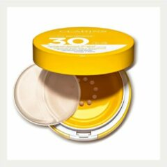 Beige Clarins Compact Solaire Minéral SPF30 Face - getinte compact zonnebrand
