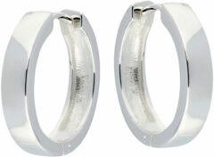 Best Basics Zilveren klapcreolen - vierkante buis 4 mm 107.0074.20