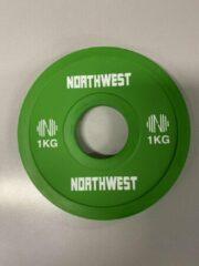 Northwest Fractional Halterschijf | Change Plate | 2 x 1 KG | Groen