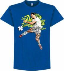 Retake Zlatan Script T-Shirt - Blauw - 152
