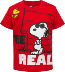 Rode Snoopy Unisex T-shirt Maat 74