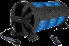 Caliber Partyspeaker HPG519BTL App bediende zwarte 60Watt portable bluetooth/karaoke speaker met USB, micro SD, aux in.Incl led verlichting