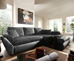 DELIFE Bank Loana zwart 275x185 slaapfunctie ottomane variabele hoekbank