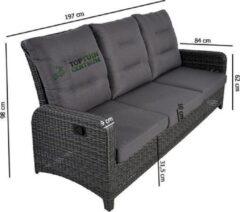 Antraciet-grijze Lesliliving Lesli Living Loungebank Soho Forte