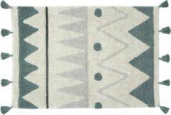 Blauwe Lorena Canals - Wasbaar vloerkleed - Mini Azteca - 70 x 100 cm