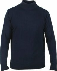Marineblauwe New Republic Enrico Polo - Heren pullover met ronde hals - Navy
