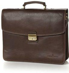 Bruine Castelijn & Beerens Verona businesstas van leer met 15,6 inch laptopvak