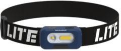 Blauwe Scangrip Head Lite LED Hoofdlamp - Oplaadbaar - Met Aan-/Uit Sensor - 75 tot 150 lm - 6000K