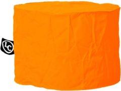 LC Zitzakken LC Zitzak, Model Rhodos - Gemak - Wasbaar in wasmachine - Voor binnen en buiten - Poef als bijzettafeltje, voetensteun of extra zitplaats - Polyester - Eigen fabrikaat - Oranje - Rond 58 x 41 cm