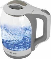 Witte Esperanza Yukon | Glazen Waterkoker | Blauw LED-Verlichting | 1,7 Liter | 1500W | Ingebouwd Maasfilter