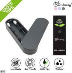 Grijze Bamboozy™ Herbruikbare Wattenstaafjes met vastzittende tipjes/uiteindes - Wasbare Wattenstaafjes Duurzaam - Oorstaafjes - Zero Waste Project - Wattenstaafjes Bamboe - Zero Waste Producten