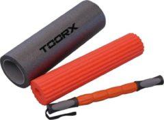 Grijze Toorx Fitness Toorx 3-in-1 Foam Roller