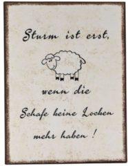 MiaVILLA Schild Schaf, Vintage-Look