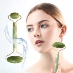 Doodadeals® Luxe Face Roller – Gezichtsroller Jade – Jade Roller Gezichtsmassage Roller – Jade Roller Gezicht – Groen