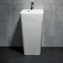 Badstuber Monobloc staande wastafel 45x45x83cm wit
