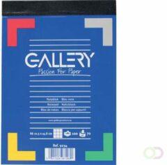 Witte Gallery notitieblok formaat 105 x 148 cm (A6) geruit 5 mm blok van 100 vel