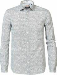 Petrol Industries Heren Lange Mouw Overhemd - M-3090-SIL406 Wolwitecru (Maat: L)