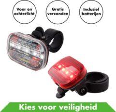 Rode In Round Fietsverlichting Set Voor En Achter – Fietslicht – Fietslampjes – Fiets Lampjes – Fietslichtjes – Voorlicht – Fiets Lamp – Fietslichten – Voorlicht Batterij – Fietslamp Racefiets – Achterlicht – Koplamp – Achterlamp – Voorlamp – Led – Ledlam