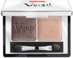 Bruine Pupa milano Pupa Vamp! Compact Duo Eyeshadow 004 Bronze Amber