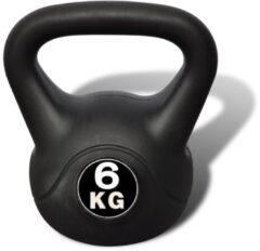 VidaXL Vida XL Kettlebell - 6 kg - Zwart