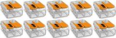 WAGO - Lasklem Set 10 Stuks - 2 Polig met Klemmetjes - Oranje - BSE