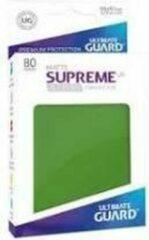 Ultimate Guard Supreme UX Sleeves Standard Size Matte groen (80)