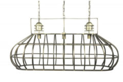 Donkergrijze Countryfield Hanglamp Bowen 130 X 156 Cm E27 Staal/nikkel Brons