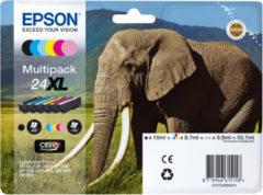 Epson Multipack 6-colours 24XL Claria Photo HD Ink 8.7ml 10ml Zwart, Cyaan, Lichtyaan, Lichtmagenta, Magenta, Geel inktcartridge
