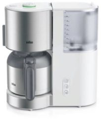 Zilveren Braun IDCollection KF 5105WH- filter-koffiezetapparaat - wit