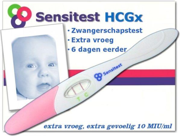 Afbeelding van Sensitest zwangerschapstest midstream extra gevoelig 6 stuks - vanaf 6 dagen voor