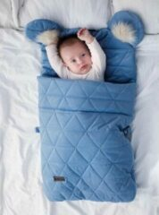 Blauwe Kinderhop Babyslaapzak 45 x 80 cm Dream Catcher - TRIANGLES JEANS - Baby sleeping bag