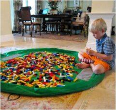BG4U 2 in 1 Speelgoed Opberg Kleed | Speelgoed Organizer | Speelmat voor Kinderen | Opbergzak Speelkleed | Diameter 1.5 Meter | Kleur Groen