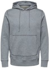 Grijze Selected Homme Sweatshirt Regular fit biologisch katoen 380g